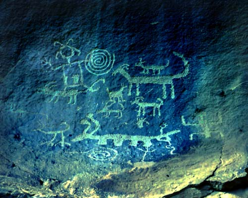 Rock Art gallery - Chaco Canyon